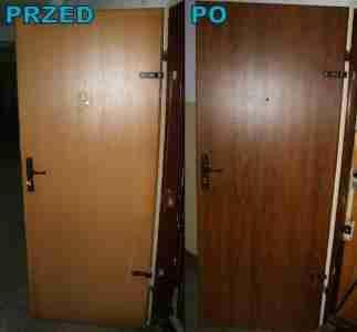Oklejanie drzwi folią pcv