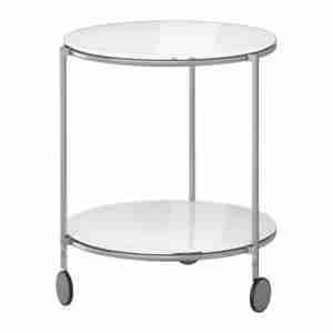 Ikea Strind Szklany Stolik Na Kółkach śr 50cm