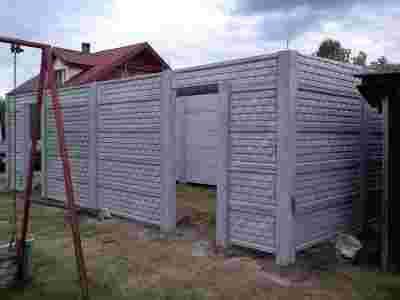 Garaże Betonowe Garaż Betonowy Z Płyt Betonowych