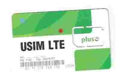 Ramka Plus Gsm Internet Nowy Wzor Usim Lte Czarna