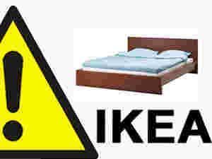 Ikea Malm Rama łóżka 140x200 Delikatnie Uszkodzona