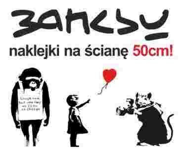 Naklejka Na Sciane Banksy Naklejki Street Art 50cm