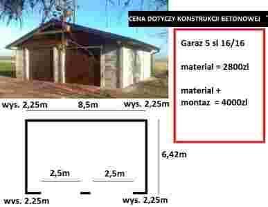 Garaże Betonowe Garaż Ogrodzenia Z Płyt Betonowych