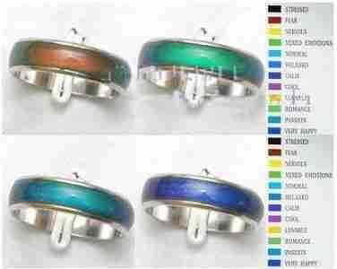 Dodatkowe Magiczne obrączki nastroju zmieniające kolor WN42