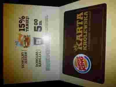 burger king karta Karta Królewska BURGER KING 12.2014 r burger king karta